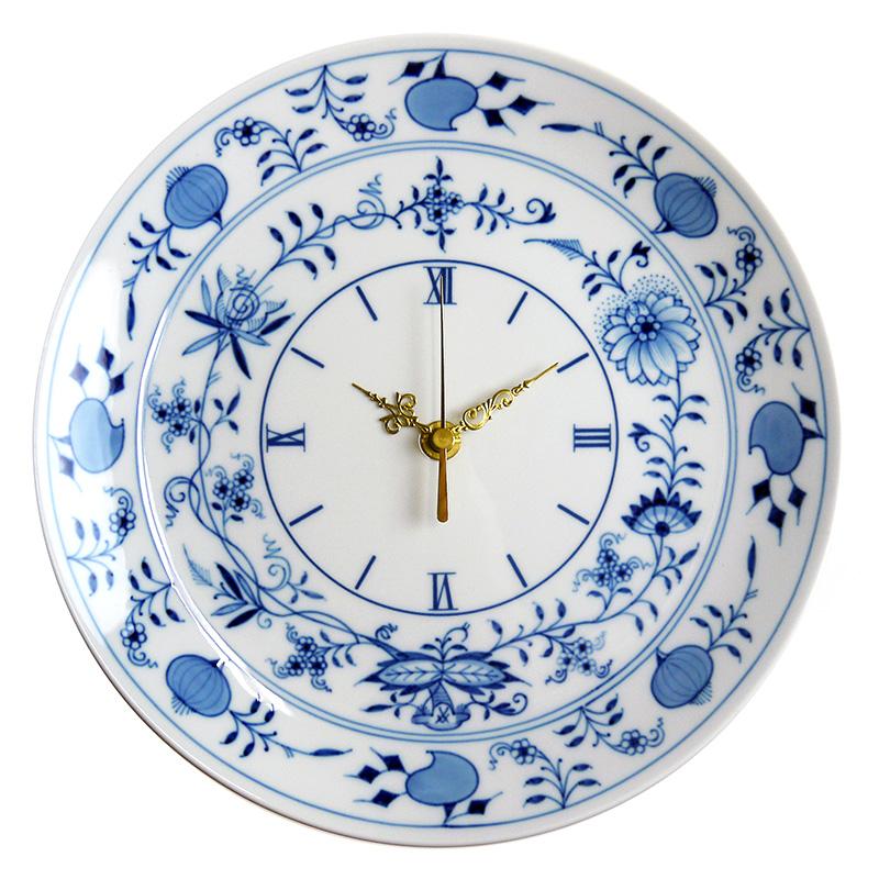 マイセン (Meissen) ブルーオニオン 掛時計 25.6cm