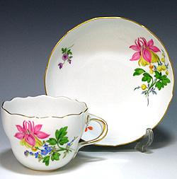 マイセン (Meissen) 2つ花 コーヒーカップ&ソーサー582