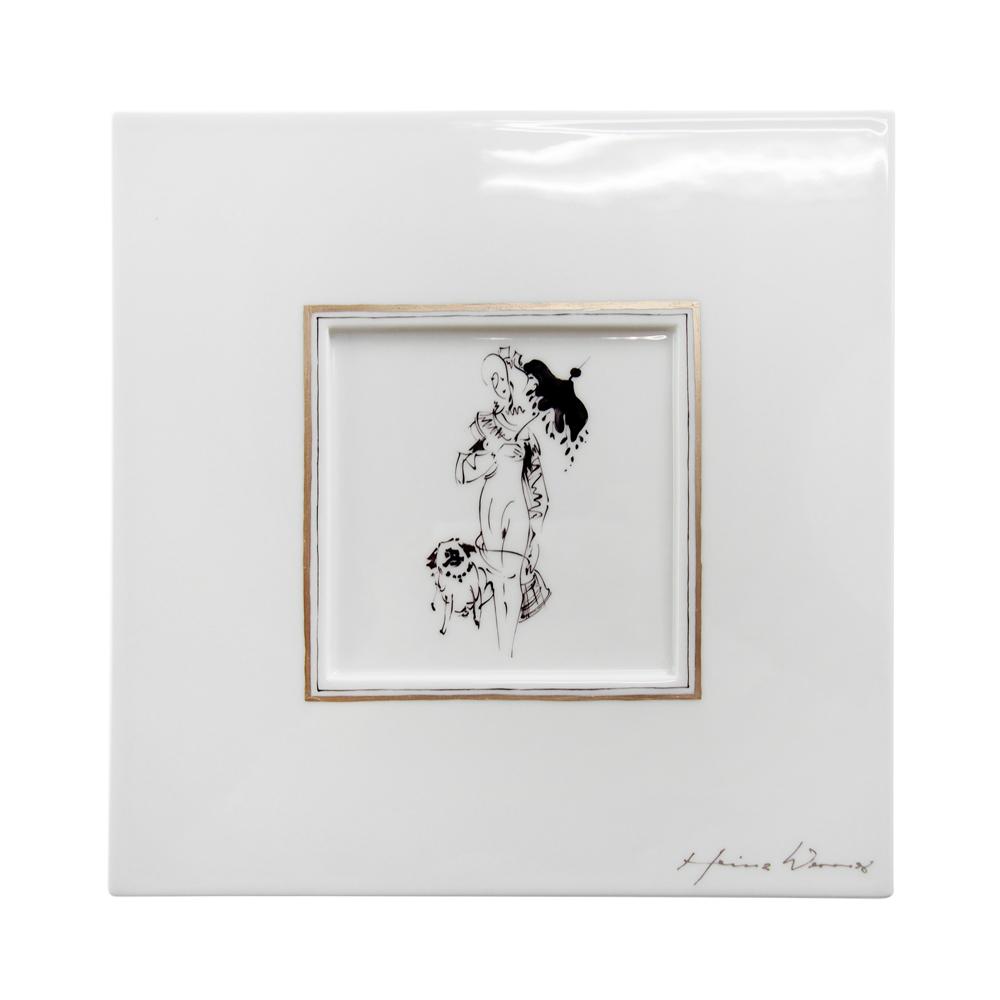 マイセン (Meissen) 陶画 LADY WITH PLAYMATE(レディとプレイメイト) No.612/No.2