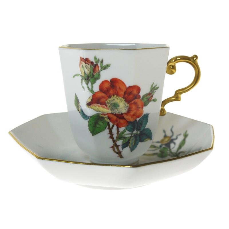 マイセン (Meissen) アンティーク No.30 フラワー コーヒーカップ&ソーサー 206710/55835