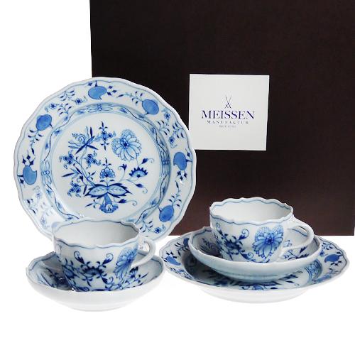 マイセン (Meissen) ブルーオニオン コーヒー ペアセット c0003