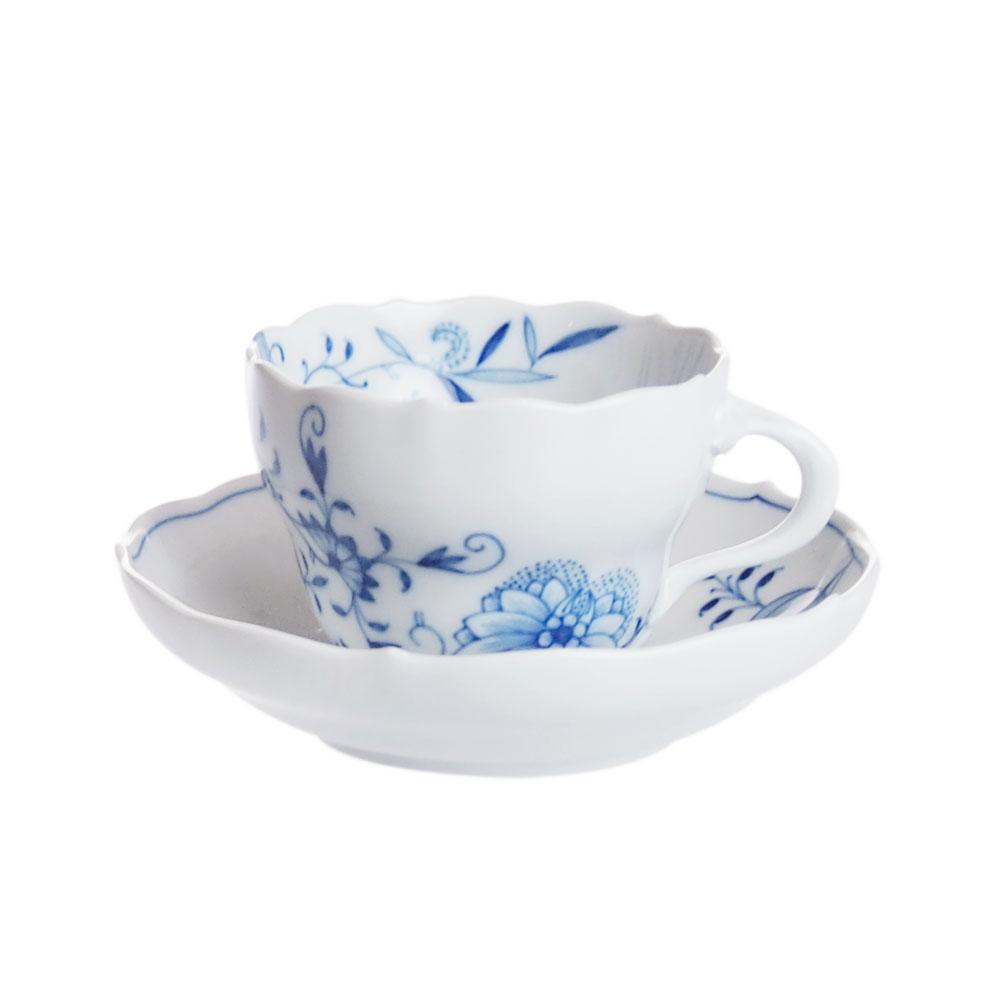 マイセン ブルーオニオンスタイル コーヒーカップ&ソーサー 801001/00582