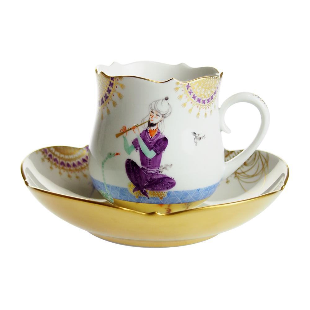 マイセン (Meissen) アラビアンナイト コーヒーカップ&ソーサー No.5 680710/23582-5