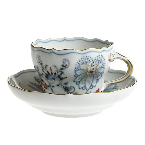 マイセン (Meissen) カラーオニオン コーヒーカップ&ソーサー 582
