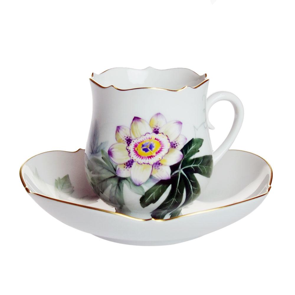 マイセン (Meissen) 水辺の草花 コーヒーカップ&ソーサー 500310 NO.4