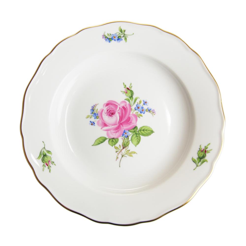 マイセン (Meissen) 薔薇とわすれな草 プレート 20cm 472