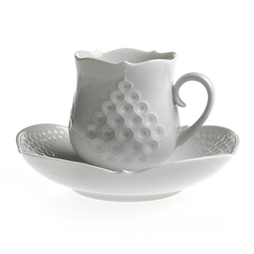 マイセン (Meissen) ホワイトレリーフ コーヒーカップ&ソーサー 26582