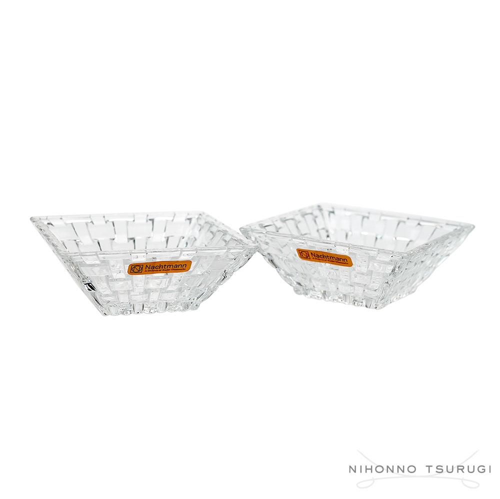 ナハトマン ボサノバ スクエアボウル 12cm ペア&長方形セット 90026