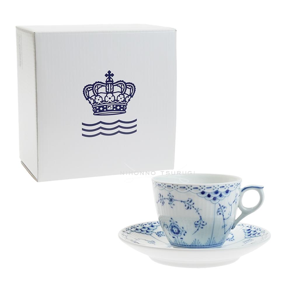 【送料無料祭】ロイヤルコペンハーゲン ハーフレース コーヒーカップ&ソーサー 102-071