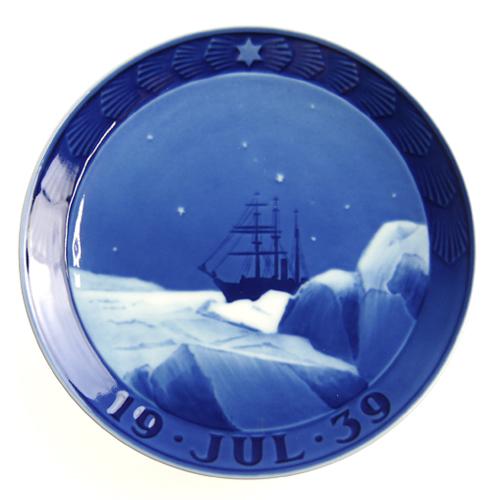ロイヤルコペンハーゲン イヤープレート 1939年 グリーンランドの流氷の中の遠征中の船【あす楽対応】