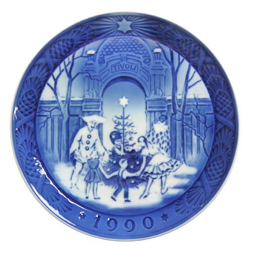 【送料無料祭】ロイヤルコペンハーゲン イヤープレート 1990年 チボリのクリスマス【あす楽対応】