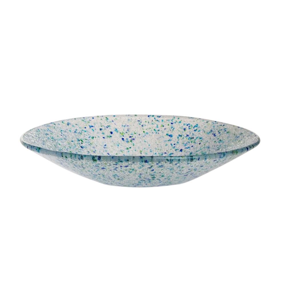 サブロウガラス 丸鉢 (大) h 青系 dL-72h