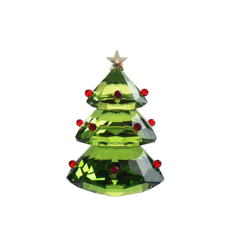 スワロフスキー (SWAROVSK) 置物 クリスマスツリー グリーン 5223606