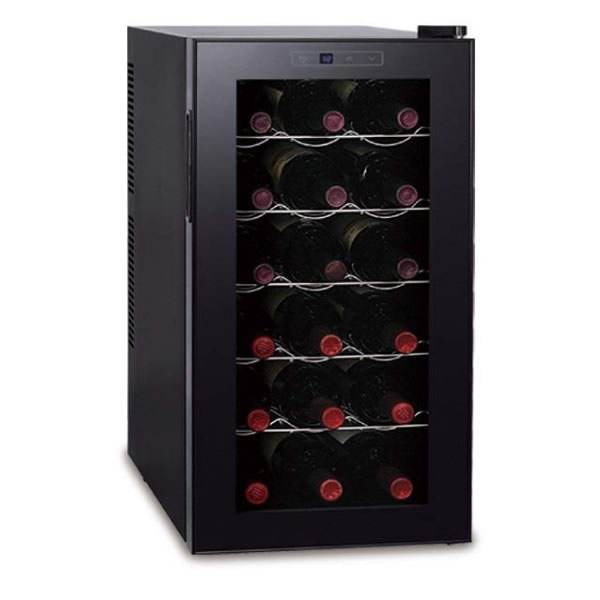 D-STYLIST ワインセラー 18本 ペルチェ方式 ワインクーラー ワイン冷蔵庫 ワイン収納庫 ワイン保存庫 ワイン保管庫