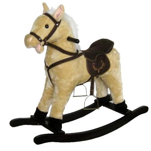 ★最大43倍+クーポン★ ロッキングアニマル 木馬 組立式 ゆらゆら木馬 おもちゃ 玩具 ぬいぐるみ感覚のかわいいお馬さん 玩具 おもちゃ
