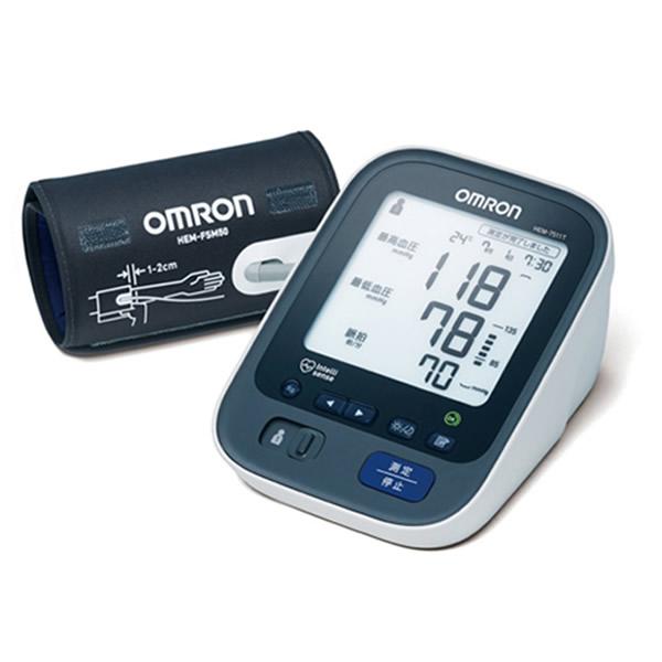 ★100円クーポン配布★ omron オムロン 上腕式 血圧計 HEM-7511T デジタル血圧計 測定データをスマホへ転送 上腕血圧計 測定時の室温も記録 HEM7511T HEM-7510C の後継