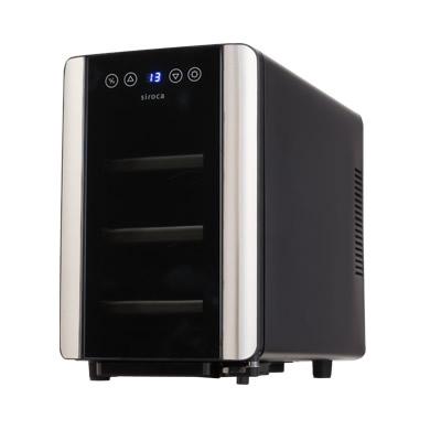 ★最大43倍+クーポン★ siroca 6本収納ワインセラー SW-P111(K) ワイン保冷庫 ペルチェ式冷却方式 ワインクーラー ワイン冷蔵庫 ワイン収納庫 ワイン保存庫 ワイン保管庫