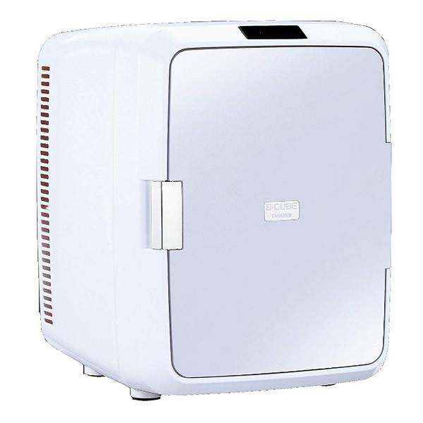 ★最大43倍+クーポン★ ツインバード 2電源式コンパクト電子保冷保温ボックス D-CUBE X HR-DB08GY 車内用冷蔵庫 HR-DB08-GY