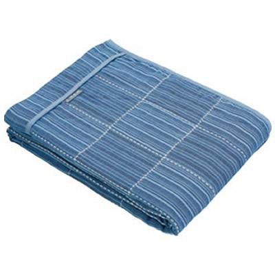 《500円クーポン配布》 三河木綿 6重ガーゼケット シングルサイズ 日本製 千年以上の伝統 美しい三河縞とさわやかな藍色が特長 三河木綿 ガーゼケット タオルケット 夏布団