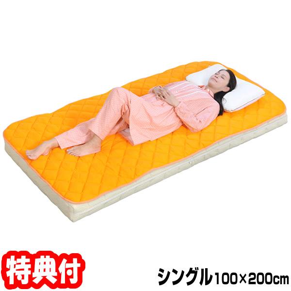 丸山式ガイアコットン ガイガ 地磁気パッド シングルサイズ 200×100cm Gaiga 敷きパッド ベッドパッド 健康寝具 電磁波ブロック 敷きパット ベッドパット 敷パッド