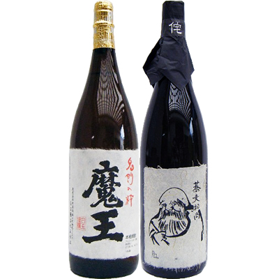 そば和尚 蕎麦 1800ml と魔王 芋 1800ml白玉酒造 飲み比べ 2本セット