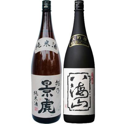 越乃景虎 純米 1.8Lと八海山 大吟醸 1.8L 日本酒 飲み比べセット 2本セット