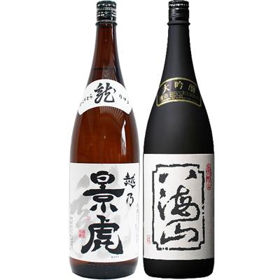 越乃景虎 龍 1.8Lと八海山 大吟醸 1.8L 日本酒 飲み比べセット 2本セット