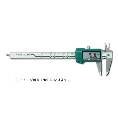 デジタルタイプの左利き専用です。 新潟精機 左勝手デジタルノギス D-200HL
