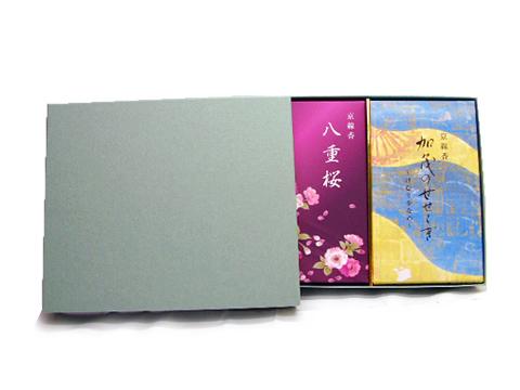 化粧箱入 微煙線香 詰め合わせ 加茂のせせらぎ 期間限定で特別価格 おしゃれ 八重桜