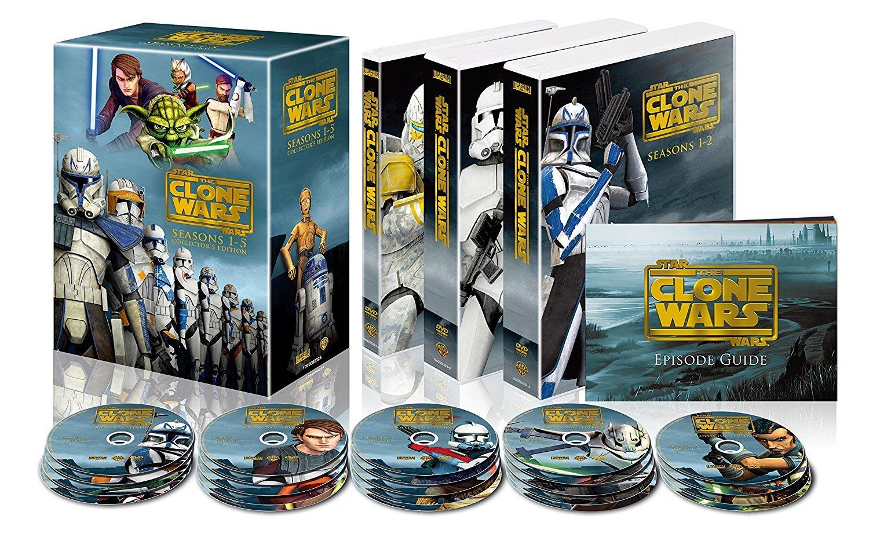 【送料無料 新品】スター・ウォーズ:クローン・ウォーズ シーズン1-5 コンプリート・セット(22枚組) [DVD]