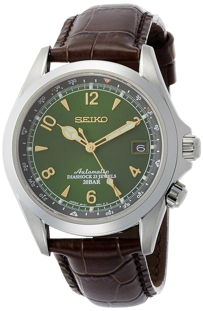 【送料無料 新品】[セイコー]SEIKO 腕時計 MECHANICAL メカニカル アルピニスト 自動巻き (手巻き付) SARB017 メンズ