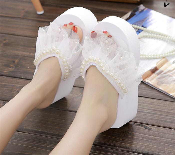 001068f4856b Flip flops Sandals slippers handmade wedge sole wedge sandal thong Sandals  summer   sea   pool ...