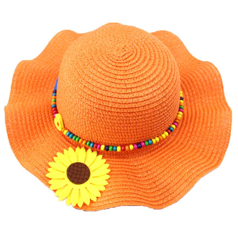麦わら帽子 子供 帽子 キッズ ストローハット 子供用 女の子 ガール 麦わらハット 夏 日焼け止め UV対策 紫外線ケア UVケア ハット フラワー UV帽子 UV 全8色 返品不可 紫外線対策 ランキング総合1位