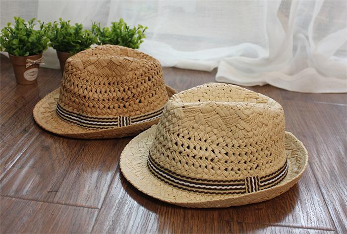 麦わら帽子 キッズ ストローハット 中折れ 子供用 男の子 麦わらハット ボーイ 帽子 夏 ハット UVカット UV帽子 UV ハット 日焼け止め  UV対策 紫外線カット