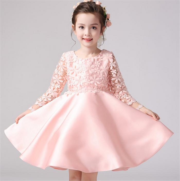 Children Dress Pastel System Volume Up Pannier Daughter Taste Clothes Kids Dress Girls Kids Formal Dress Wedding Wedding Entrance Ceremony Graduation