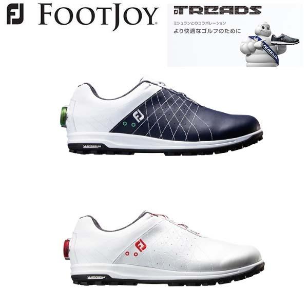 【2018年モデル】 フットジョイ トレッドボア ゴルフシューズ FootJoy TREADS Boa #56205 #56206 【ミシュランと共同開発したテクニカルソール】FJ W(2E) 【日本正規品】【送料無料】