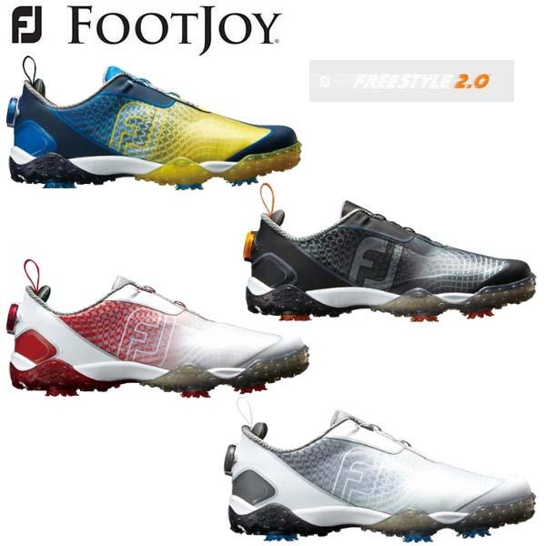 【2018年モデル】 フットジョイ フリースタイル2.0ボア ゴルフシューズ FootJoy FREESTYLE2.0 Boa #57350 #57351 #57352 #57353 FJ W(2E) 【日本正規品】【送料無料】