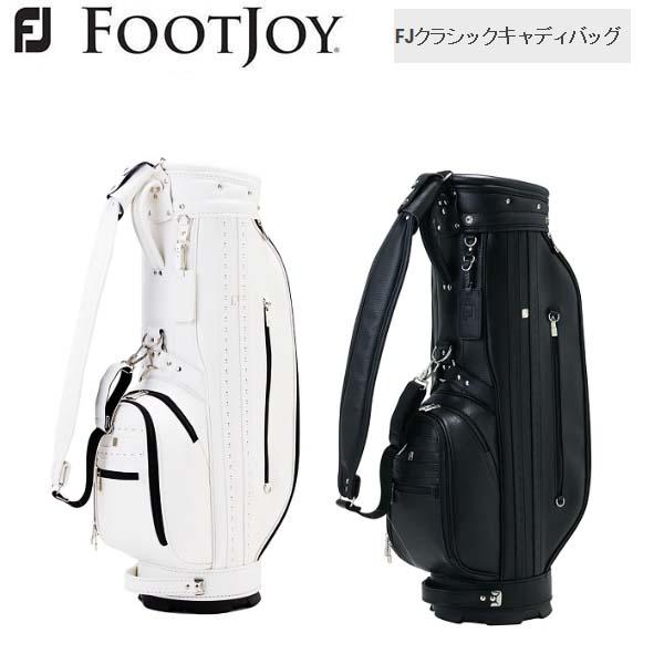 【2018年モデル】 Foot Joy/フットジョイ FJ クラシックキャディバッグ 9型 約3.9Kg FB18CT1 1 0 ICON BLACK イメージ 【日本正規モデル】【送料無料】