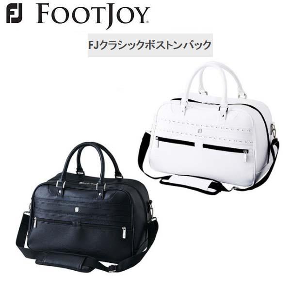 【2018年モデル】 Foot Joy/フットジョイ FJ クラシックボストンバッグ FJBB1815 WT/BK ICON BLACK イメージ 【日本正規モデル】