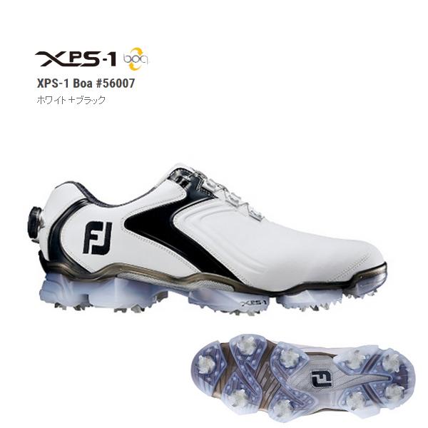 2016'Foot Joy/フットジョイXPS1ボア/XPS-1Boa #56007 ホワイト/ブラックFJ ウィズ M(1E)XW(3E)【日本正規品】【送料無料】