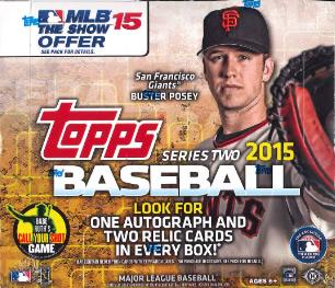 MLB 2015 TOPPS SERIES 2 JUMBO BOX