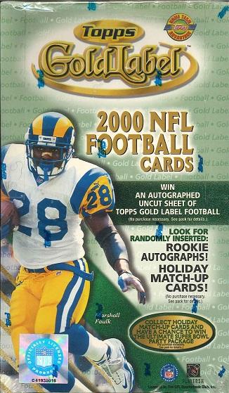 NFL 2000 TOPPS GOLDLABEL BOX