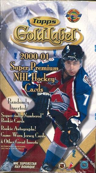 NHL 宅送 2000 2001 好評 GOLDLABEL BOX
