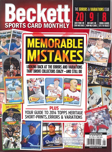 BECKETT SPORTS CARD 訳あり商品 MONTHLY デポー MAY 2014 #350