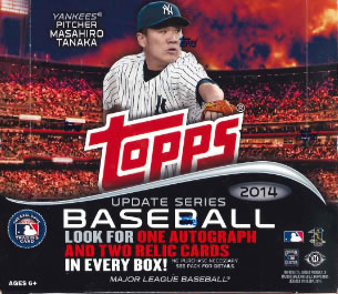 MLB 2014 TOPPS UPDATE JUMBO版 BOX