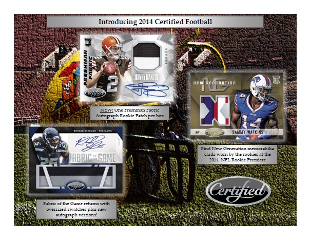 NFL 2014 PANINI CERTIFIED FOOTBALL BOX