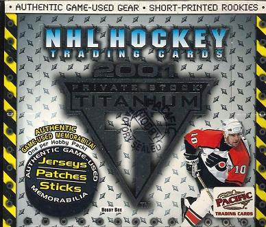 NHL 2000/2001 PACIFIC PRIVATE STOCK TITANIUM BOX