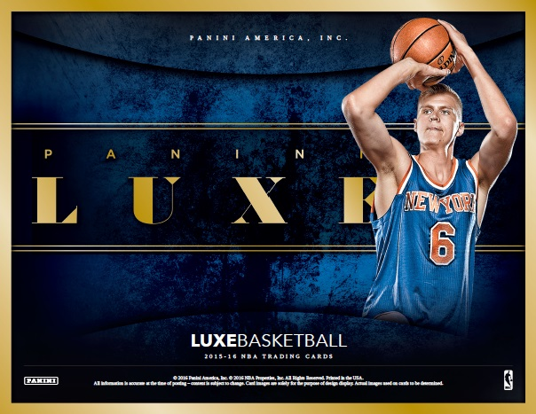 NBA 2015/2016 PANINI LUXE BASKETBALL BOX