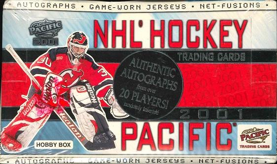 NHL 2001 PACIFIC HOCKEY HOBBY BOX