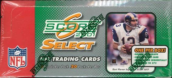NFL 2001 SCORE SELECT FOOTBALL HOBBY BOX